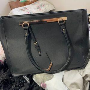 Colette Hayman strapped laptop bag - black